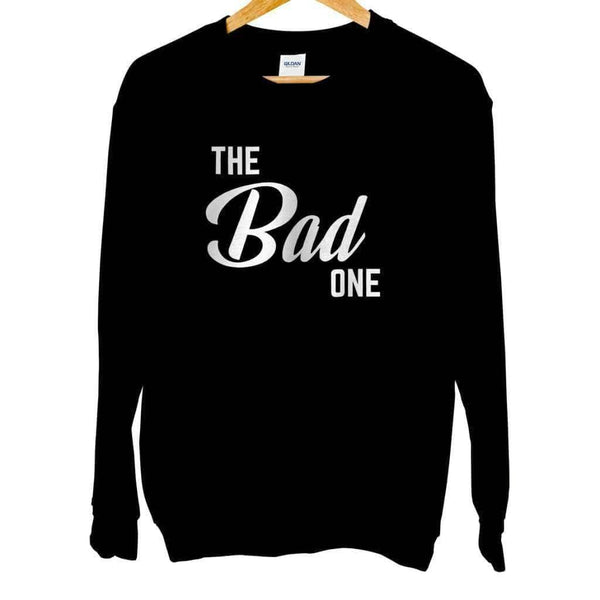 The Bad One Crew Neck - Unisex Sweatshirt / Black / S - Design