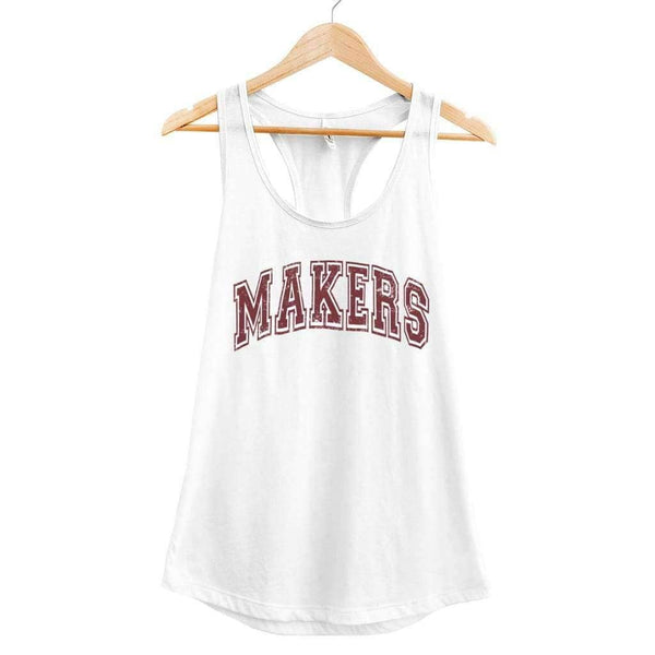 Trouble Makers 2 Tank - Ladies Racerback Tank / White / XS - Design