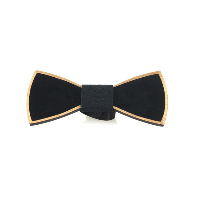 Wood Bowties Dot & Solid Bow Ties for Men Wedding