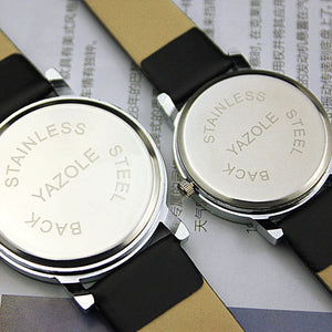 Couples bold face watch