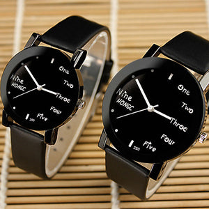 Couples bold face watch set