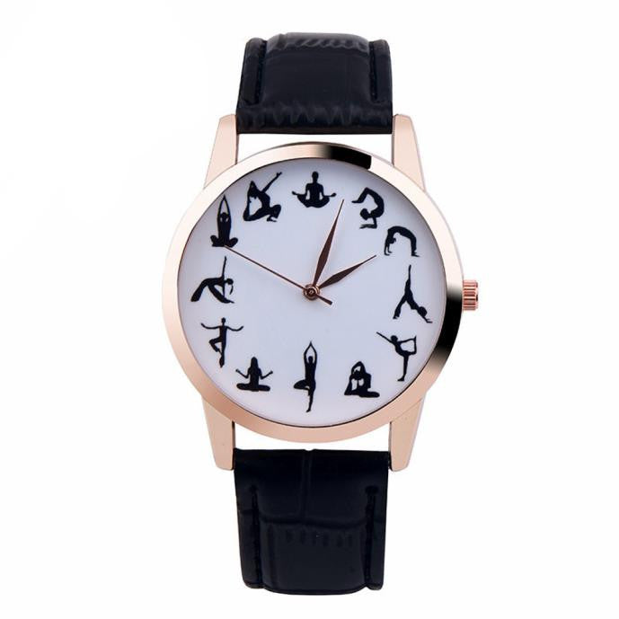 Yoga Pose Wrist Watch