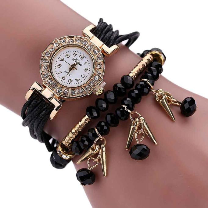 Crystal Synthetic Fashion Chain Watch