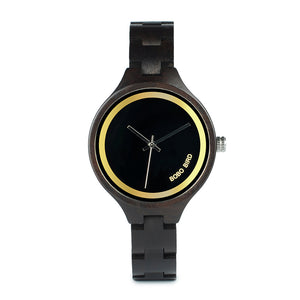 BOBO BIRD Simple Classic Black Dial