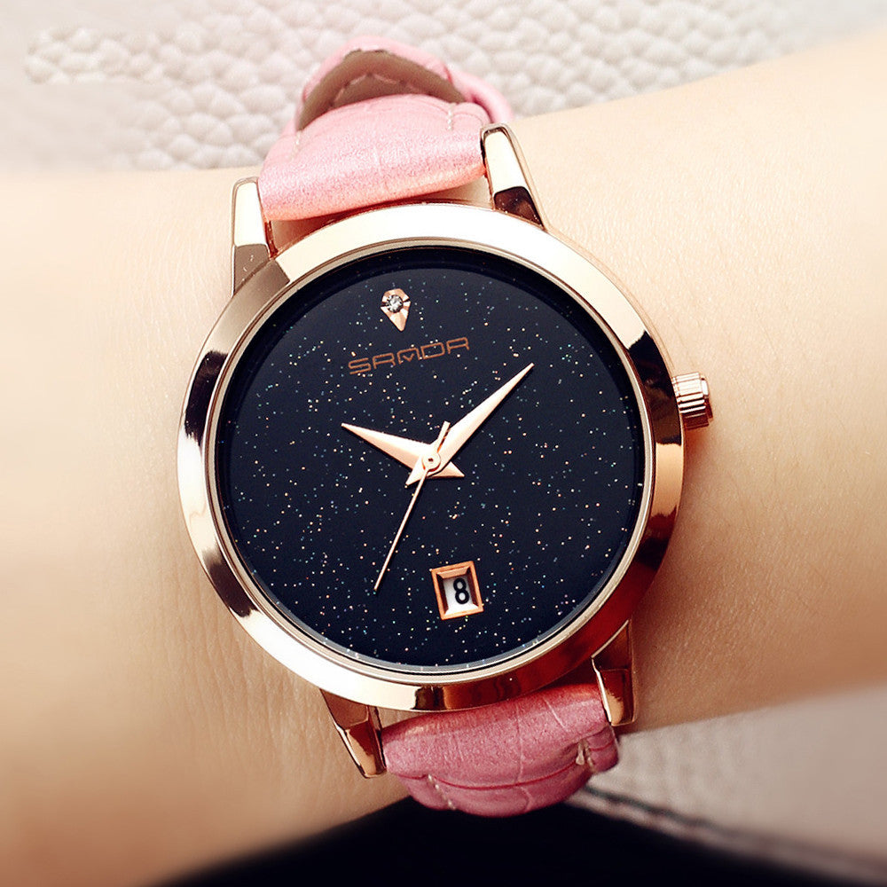 Luxury Leather Band  Wrist Watch Watches