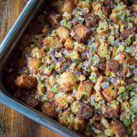 Liteful Food's Gluten Free Honey Bread Stuffing