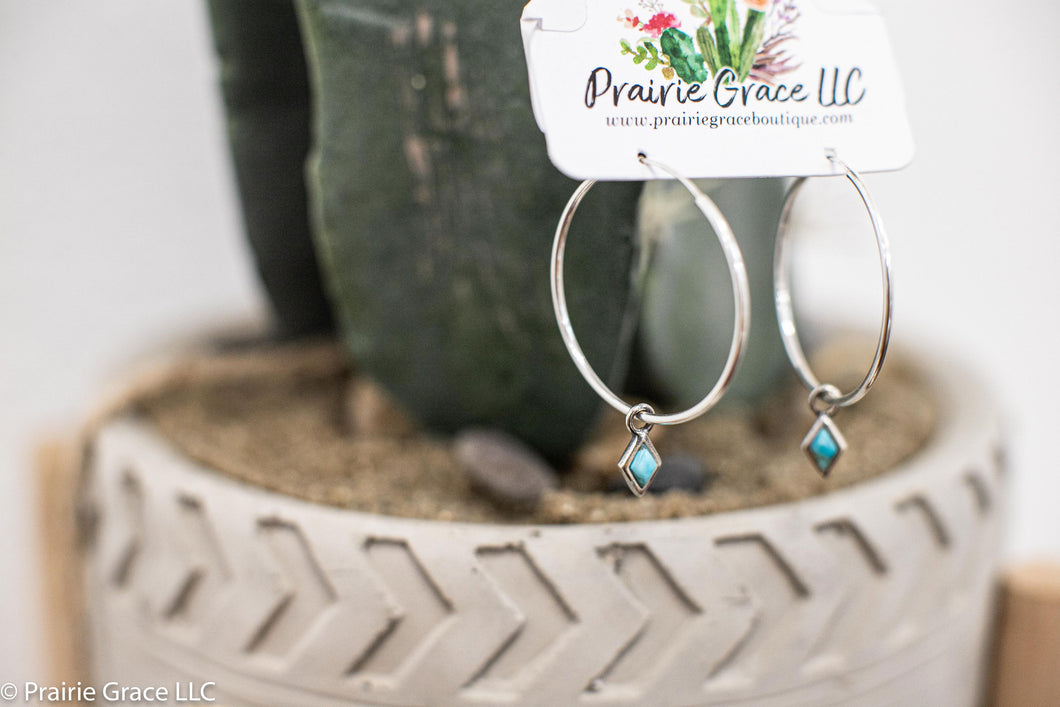 Dior Turquoise Hoops