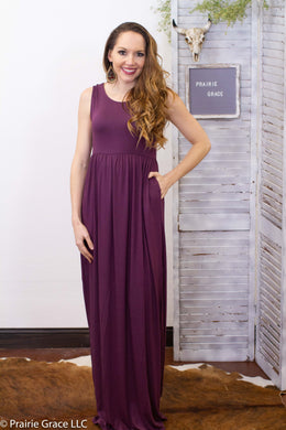 Amherst Maxi Dress || Eggplant