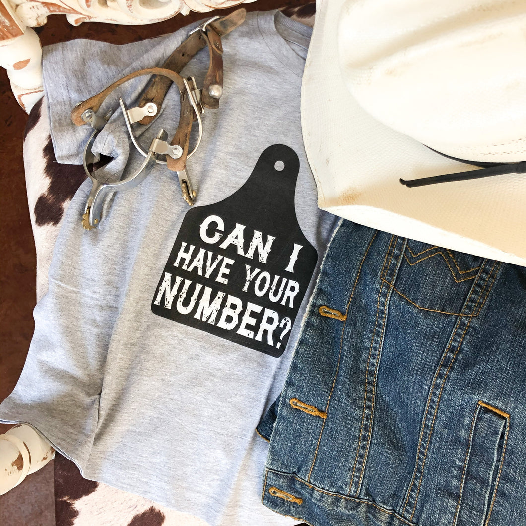 Can I Have Your Number Toddler Tee
