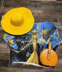 Yellow top and hat
