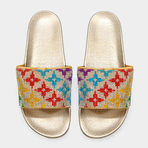 Gold Star Slide Sandals