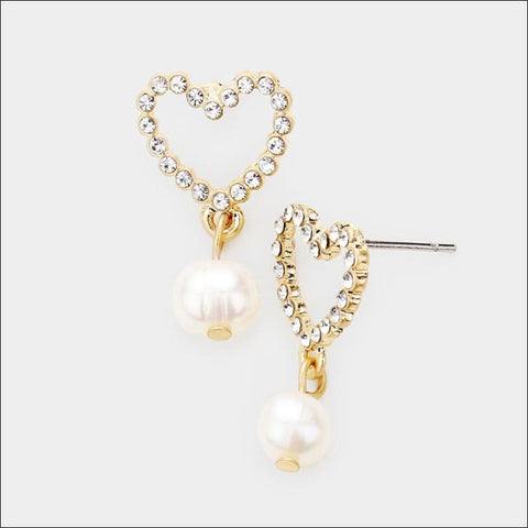 Amour Pearl Earrings - earrings