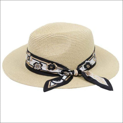 ANGELIQUE FEDORA WITH PRINTED RIBBON