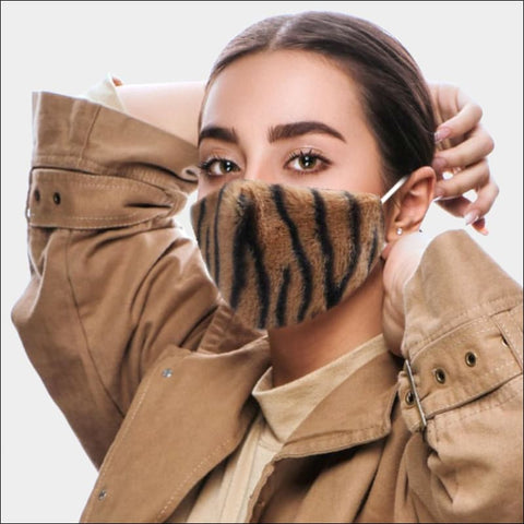 Brown Tiger Fur Mask
