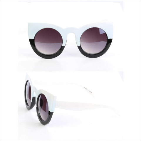 Black and white cats eye sunglasses