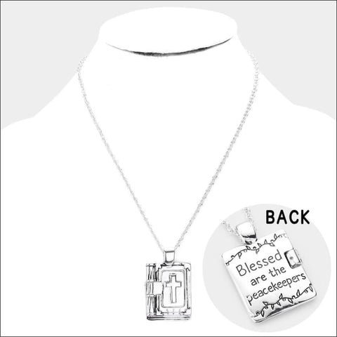 Blesssed Are The Peacekeepers Necklace - necklace