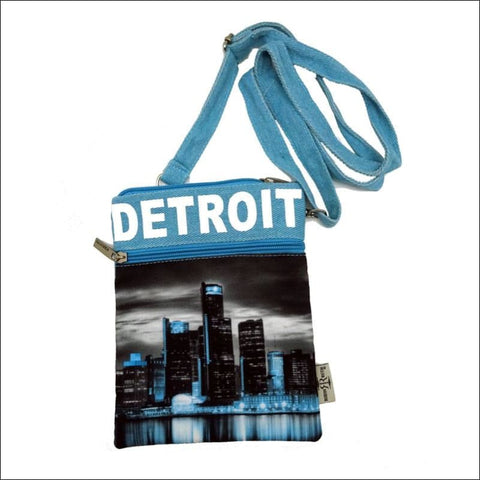 B&W Detroit Skyline Cross Body Bag - purse