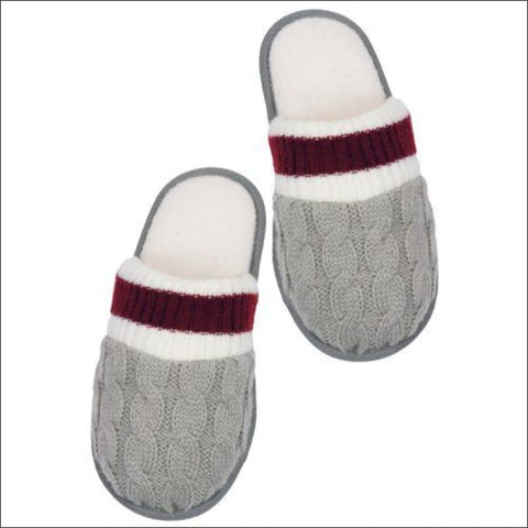 Cable Knit Canadian Slippers