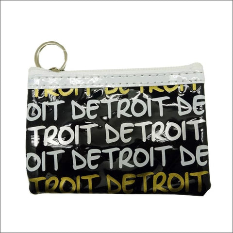 Detroit Classic Text Gold/Silver Rectangular Coin Purse -