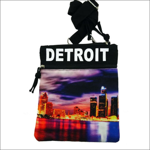 Detroit Skyline Cross Body Bag - purse