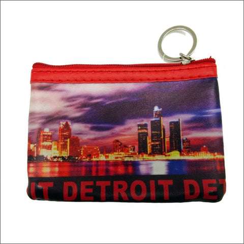 Detroit Skyline Rectangle Coin Purse - coin purse
