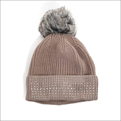 Dusty Rose Knit Hat - knit hat