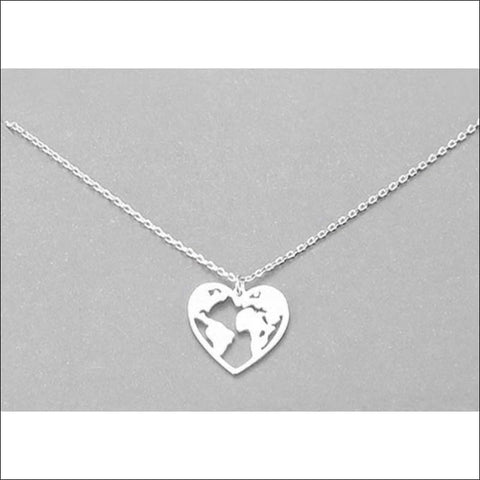 I Love The World Necklace - necklace