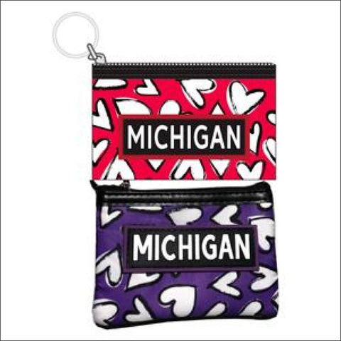 Michigan Hearts Coin Purse - coin purse