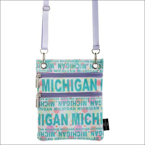 Michigan Polka Dot Cross Body Bag - purse