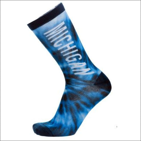 Michigan Tie Dye Socks