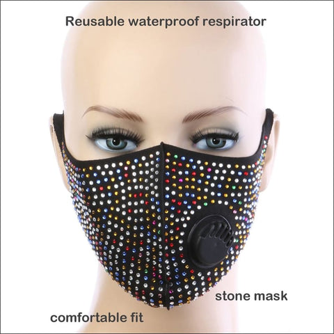 multi color Rhinestone Mask