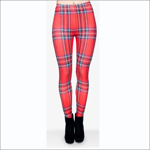 Plaid Leggings - Leggings