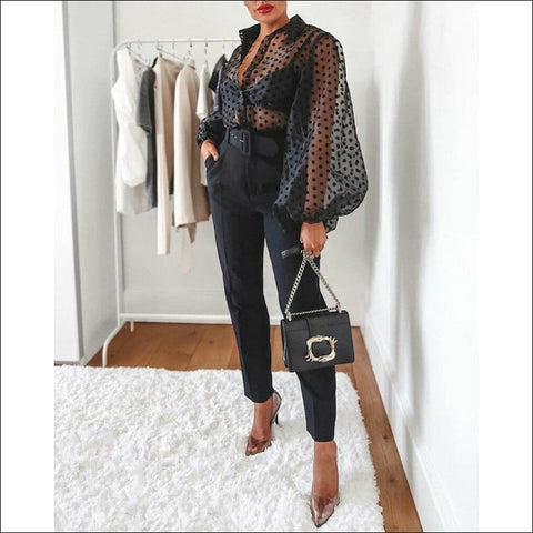 Polka Dot sheer blouse - Blouse