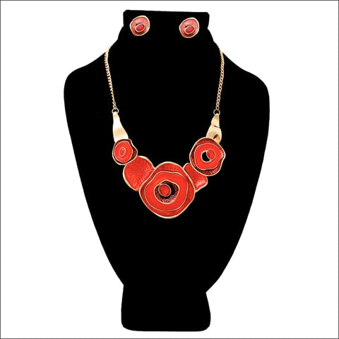 Rosette Necklace Set - jewelry