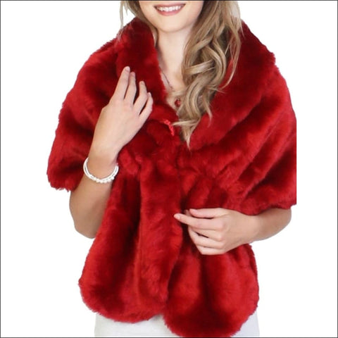 Ruby Red Holiday Wrap - poncho