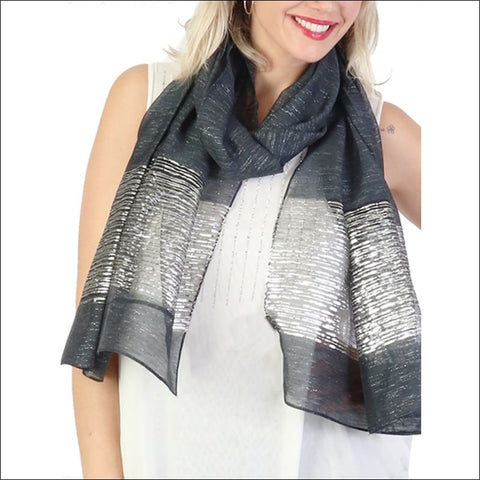Navy lightweight scarf