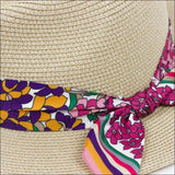 SPRING'S BLOOM FEDORA HAT WITH SCARF