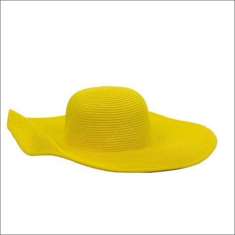 SUNSHINE YELLOW WIRE BRIM WIDE SUN HAT