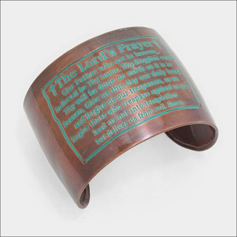 The Lord's Prayer Brass Cuff - earrings