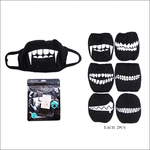 Toothy Smile Face Mask (Set of 3) - face mask