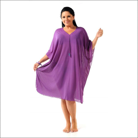 purple kaftan cover up