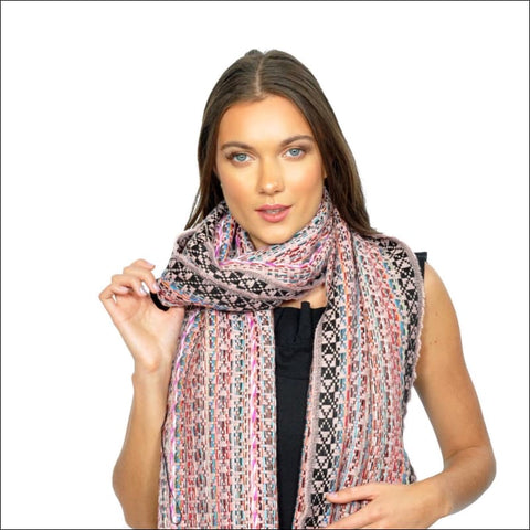 multi color knit scarf