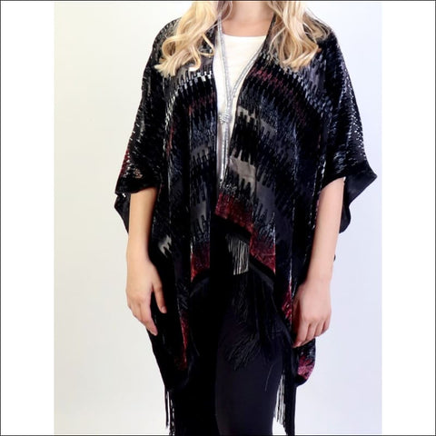 Velvet Holiday Wrap - poncho