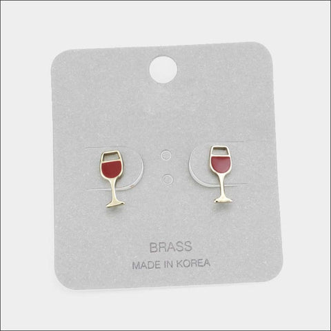 wine glass earrings