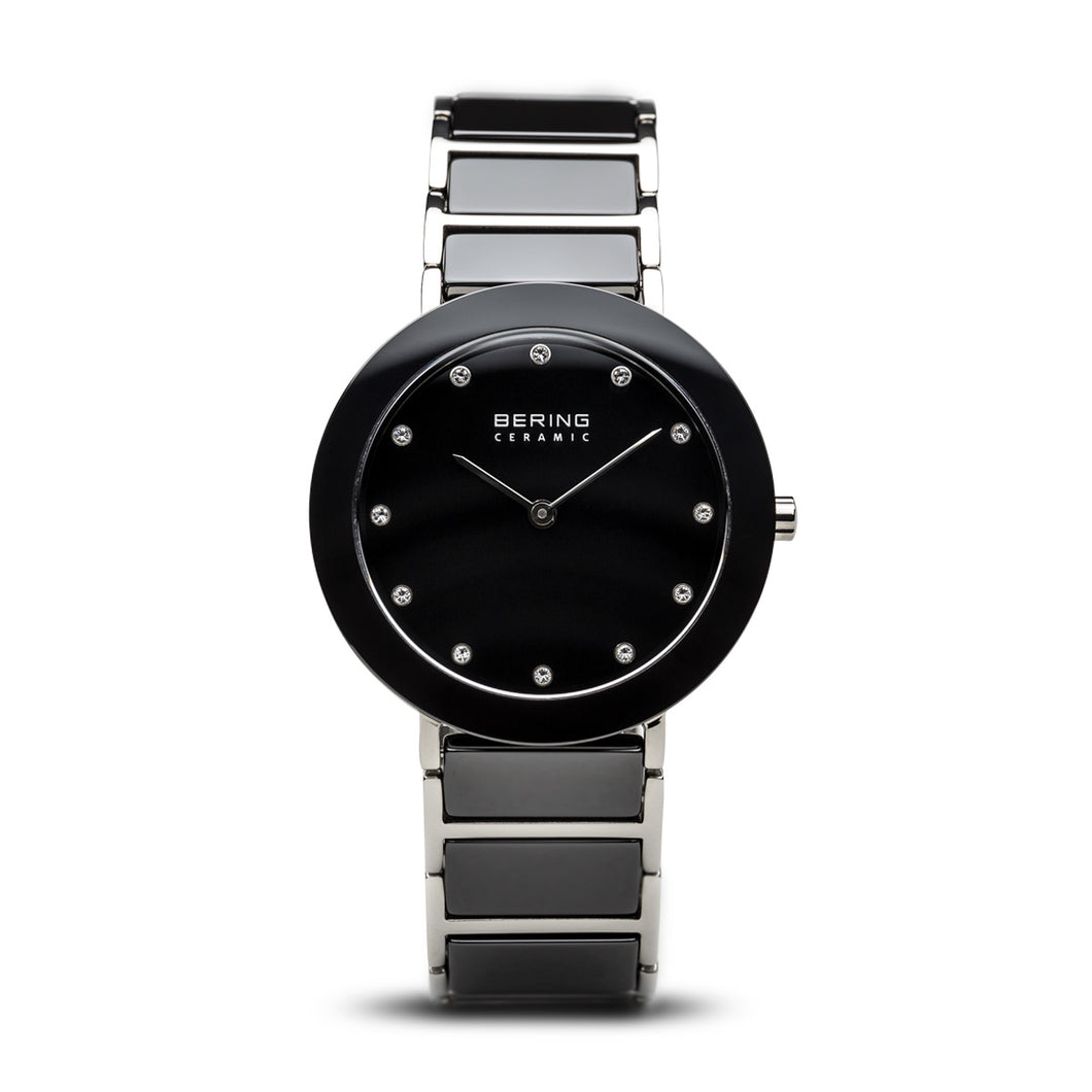 Bering Time Ceramic Polished Silver Watch | 11435-749