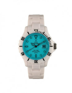 ToyWatch White/Blue Plasteramic Ladies Watch FLO1WHLB