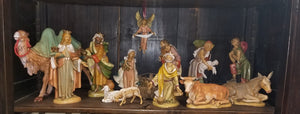 "Fontanini 12"" Nativity set of 15 pieces"