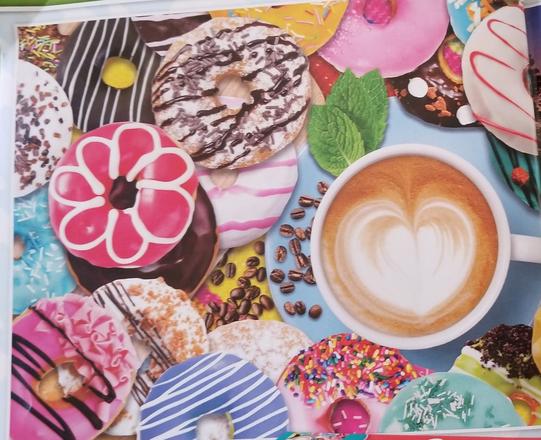Puzzle 500 pc Donuts and Coffee