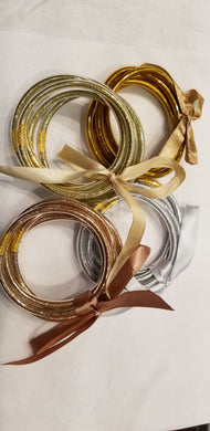 Rose Gold Flexible Jelly Bangle Set