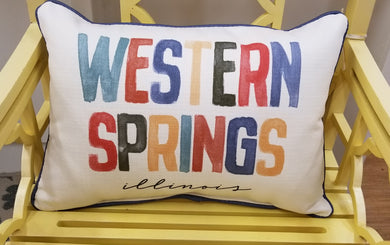 Western Springs Colorful Lumbar pillow